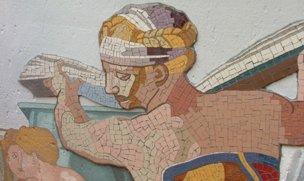 Mosaic and paint