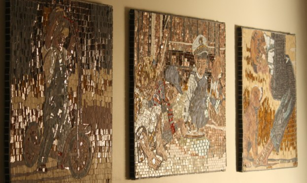 Mosaic wall panels